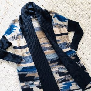 H&M duster cardigan in Western motif